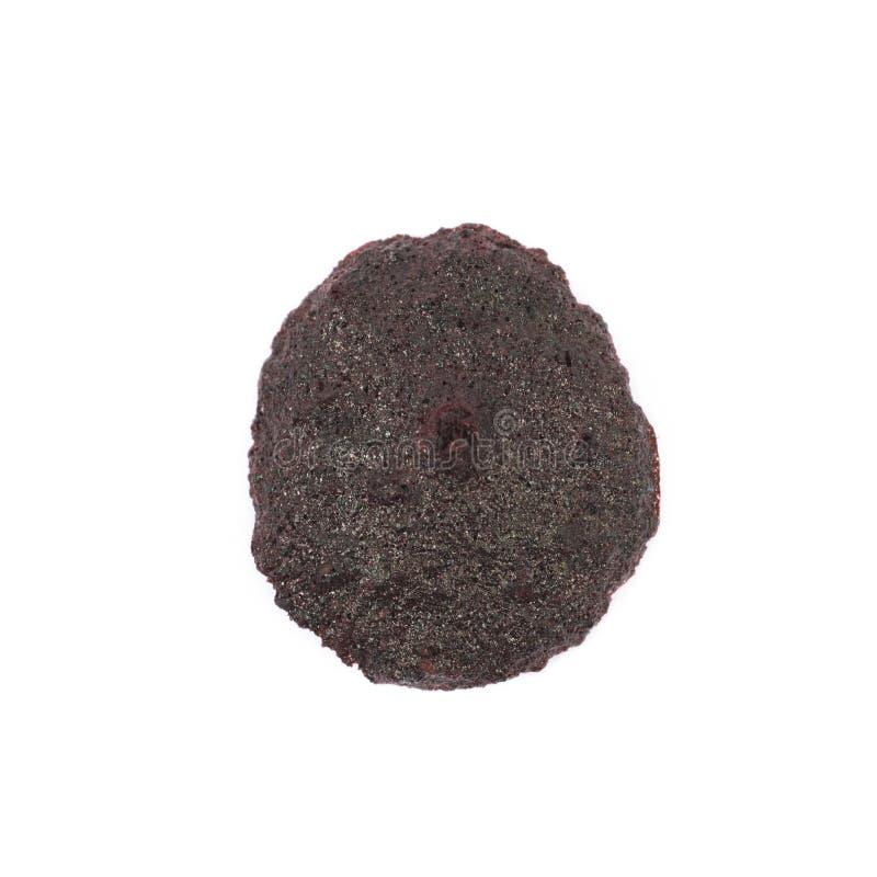 Biscuit de poudre noire d'isolement image stock