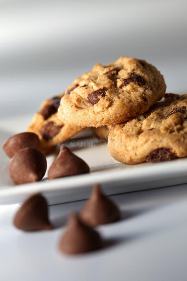 Biscuit de puce de chocolat image libre de droits
