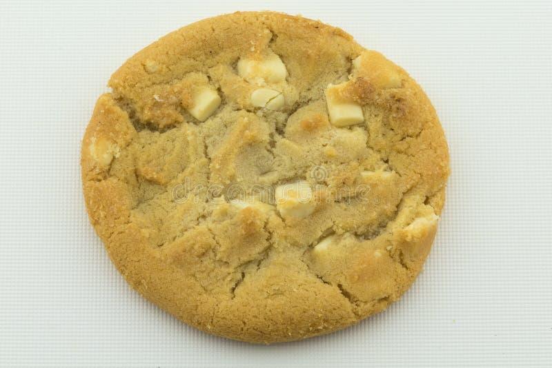Biscuit de puce de chocolat blanc images libres de droits