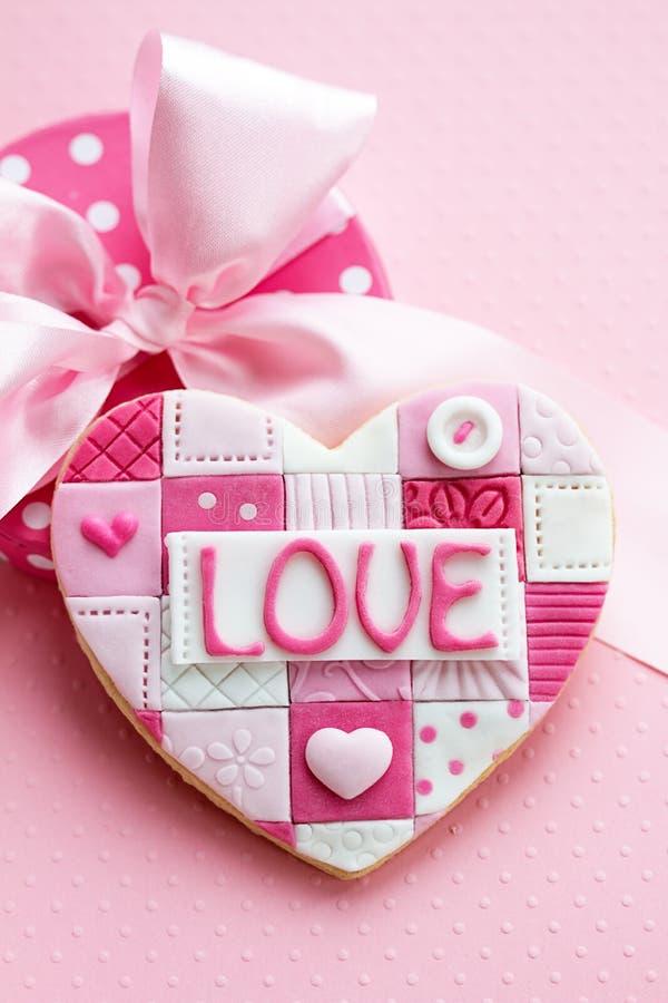 Biscuit de Valentine image libre de droits