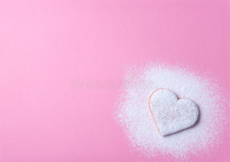 Biscuit en forme de coeur 1 image stock