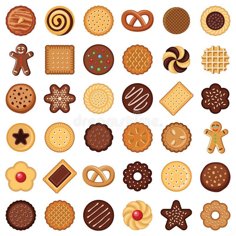Biscuit et biscuit illustration stock