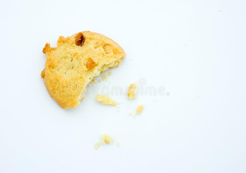 Biscuit et miette dispersés image libre de droits