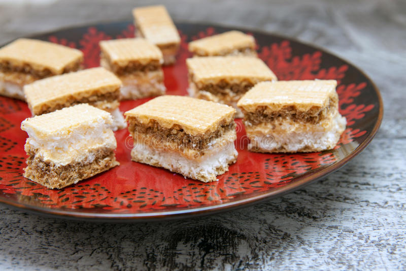 Biscuit fait avec du chocolat et la noix de coco photo libre de droits