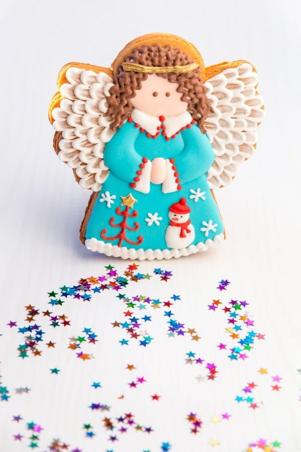 Biscuit Fait Maison D Ange Avec La Decoration De Noel Image