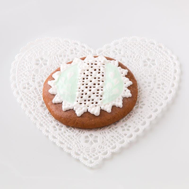 Biscuit fait maison de pain d'épice. images stock