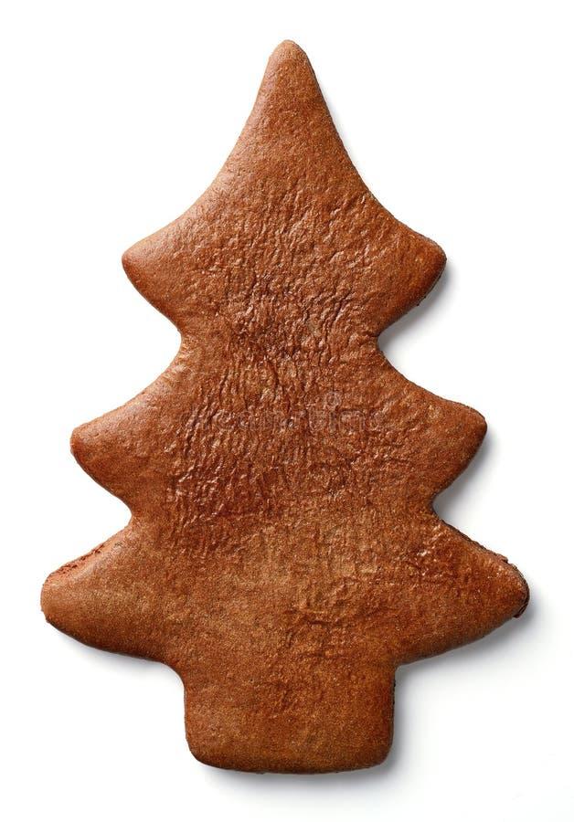 Biscuit formé de pain d'épice d'arbre de Noël photo libre de droits