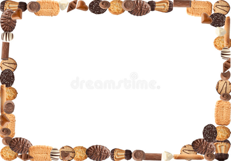 Biscuit frame stock photography