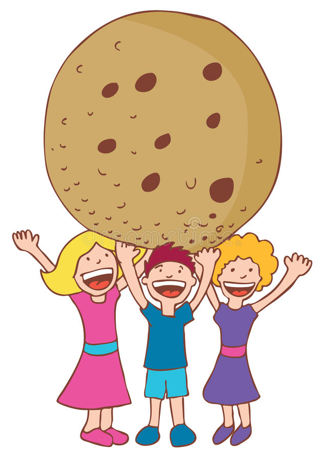 Biscuit géant illustration de vecteur