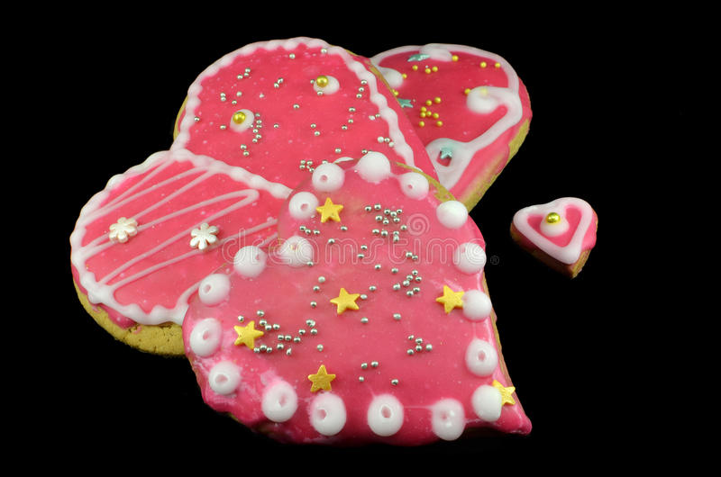 Biscuit hearts stock photography