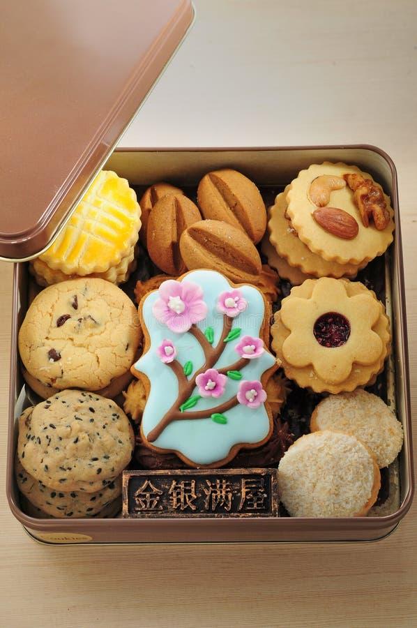 Biscuit platter. Assorted Baked butter Biscuit platter stock photos