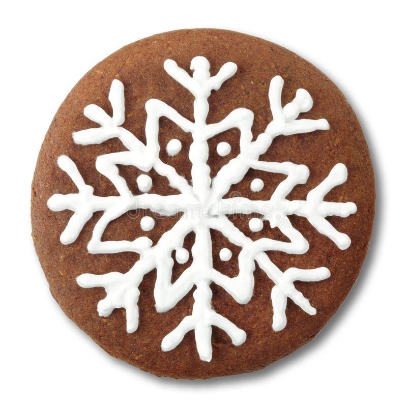 Biscuit rond de pain d'épice de Noël images stock