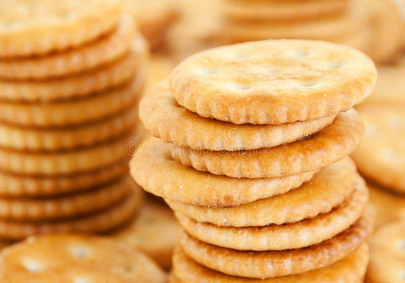 Biscuit salé rond photographie stock libre de droits
