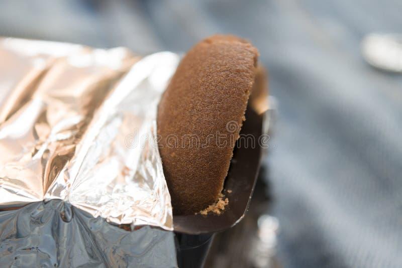 Biscuit sec de chocolat photo stock