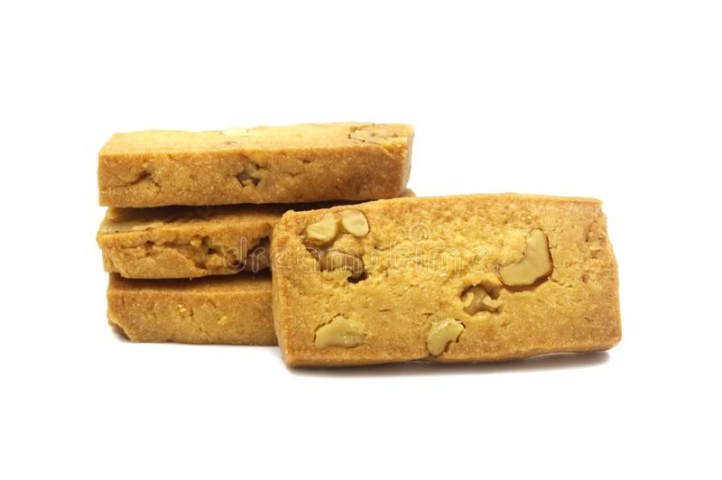 Biscuit simple de biscuits fait maison, place et conception épaisse photo stock