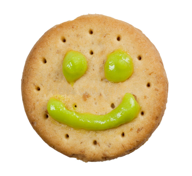 Download Biscuit with smiley face stock image. Image of cheerful - 12597287
