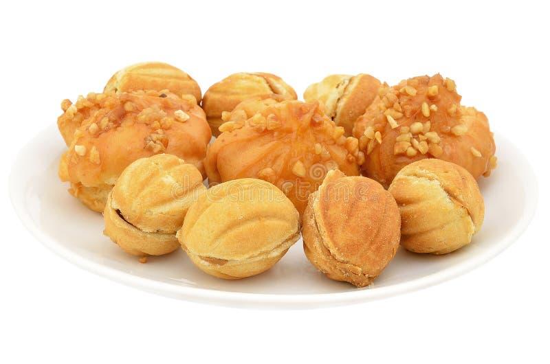 Biscuit vermeil rond photos libres de droits