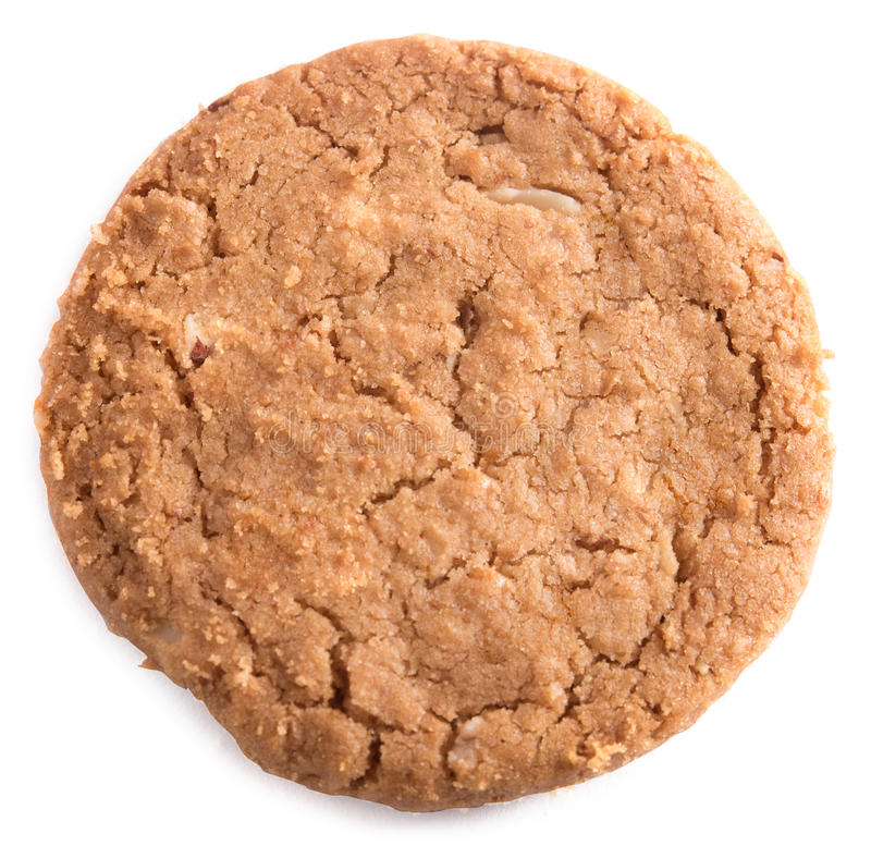 Biscuit on white background stock photos