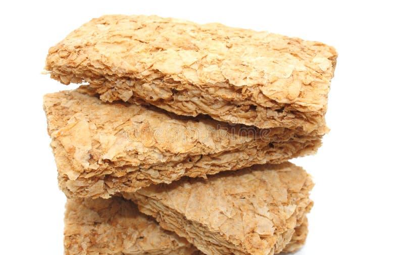 Biscuites do pequeno almoço do trigo fotos de stock royalty free