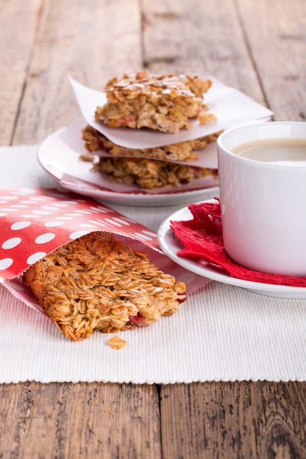 Biscuits à l'avoine et coffe photo stock
