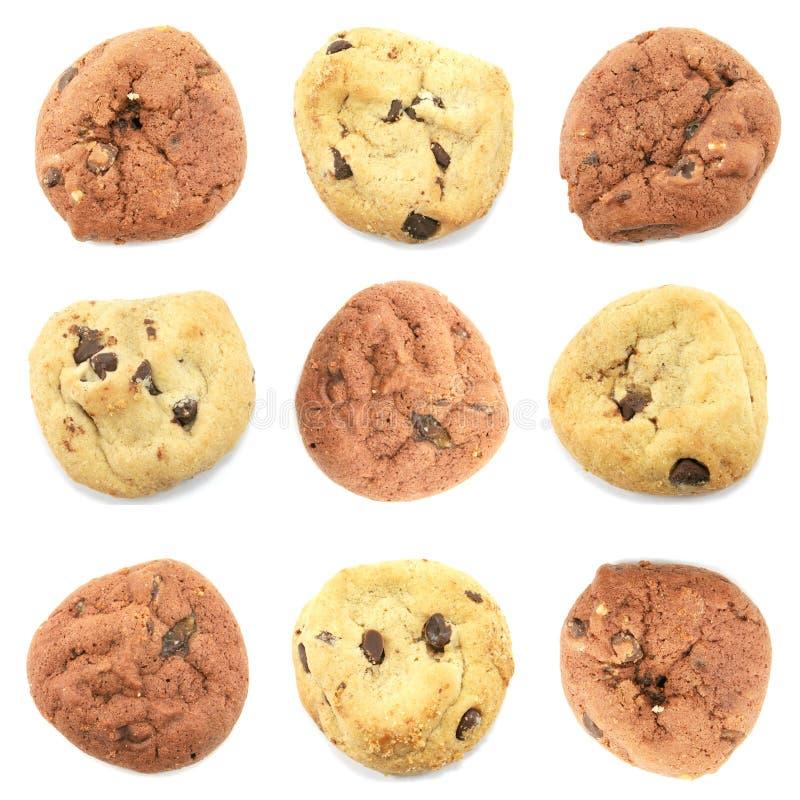 biscuits étendus soigné à l'extérieur image stock