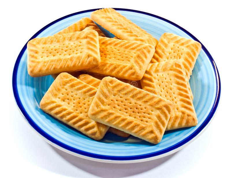 Cookies On A Plate Royalty Free Stock Photography