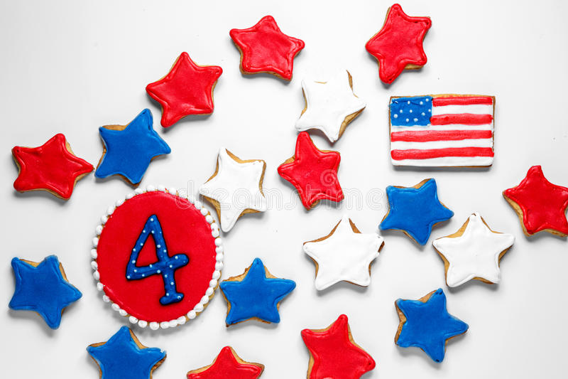 Biscuits américains de Jour de la Déclaration d'Indépendance images stock