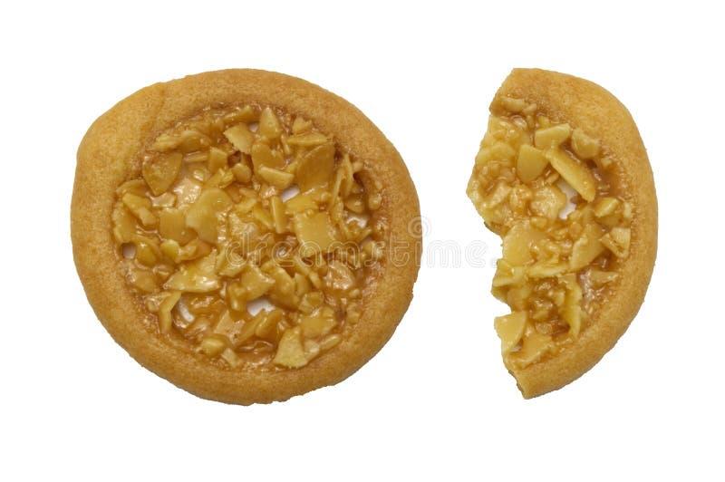 Biscuits aromatisés au goût âpre et tellement doux d'amande images libres de droits