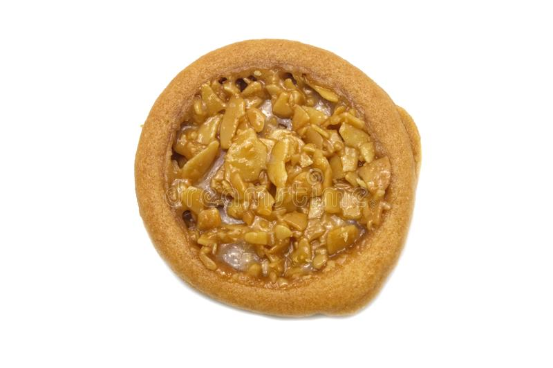 Biscuits aromatisés au goût âpre et tellement doux d'amande photo libre de droits