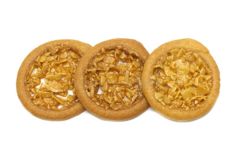 Biscuits aromatisés au goût âpre et tellement doux d'amande images stock