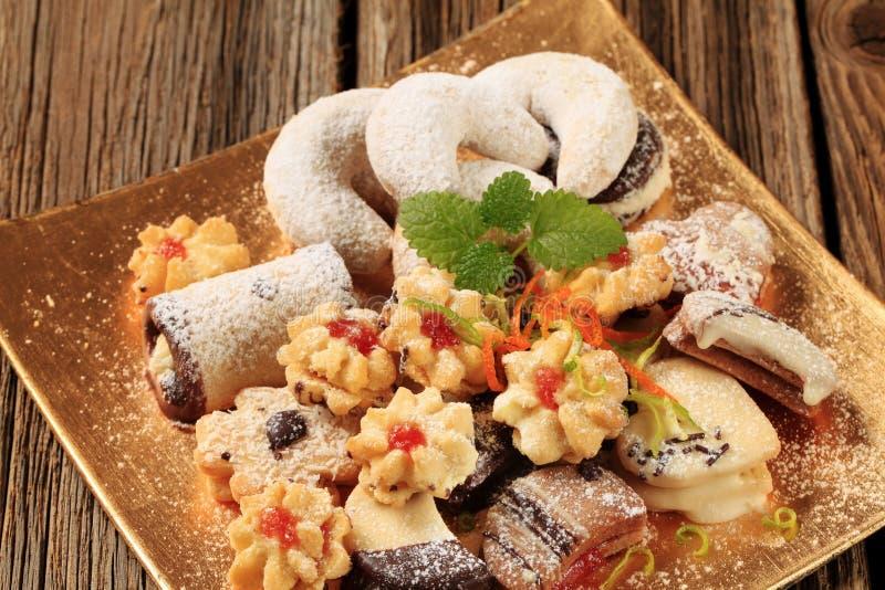 Biscuits assortis photos stock