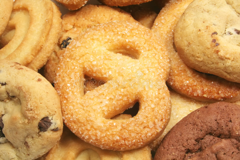 Biscuits assortis image stock