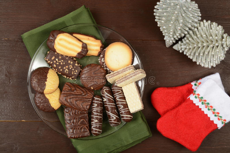 Biscuits assortis de Noël photographie stock