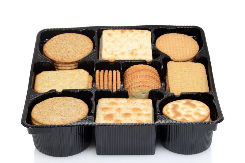 Biscuits assortis par boîte image libre de droits