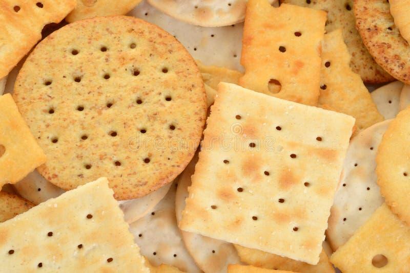 Biscuits assortis par macro photographie stock