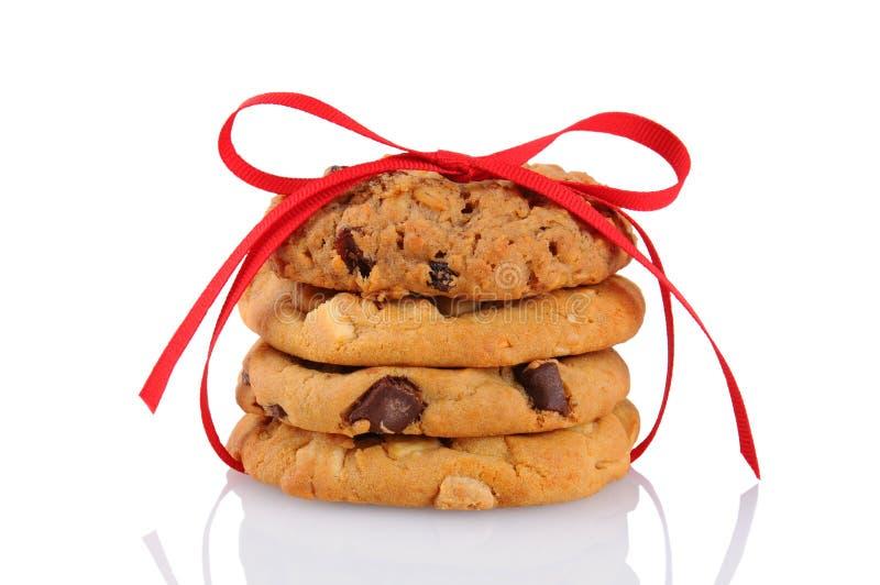Biscuits attachés avec une bande rouge photo stock