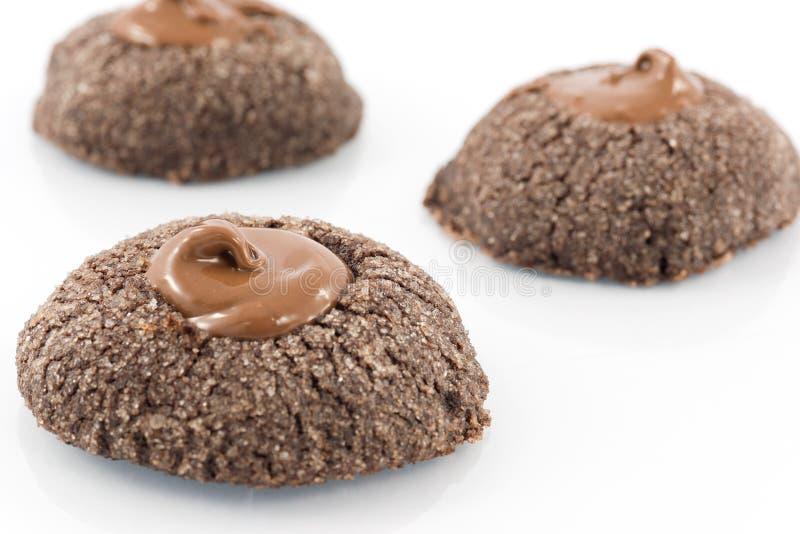 Biscuits avec du chocolat photo libre de droits