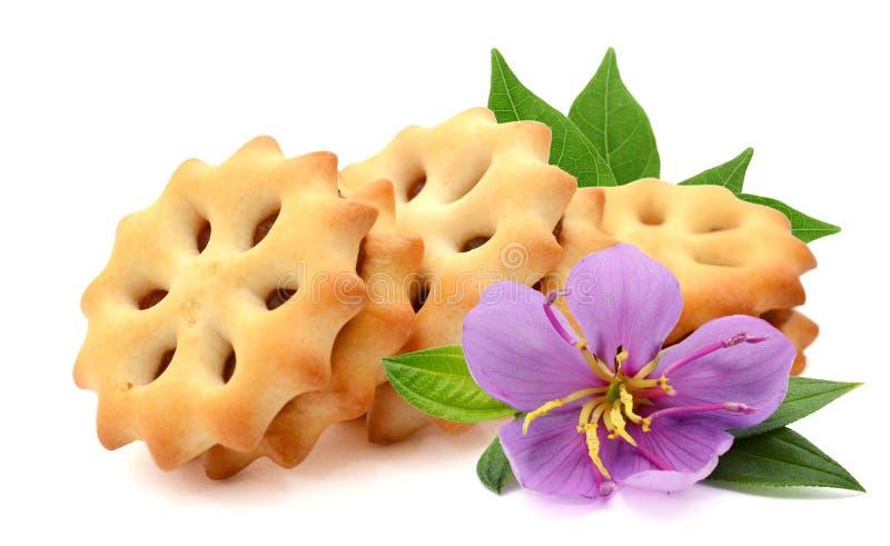 Biscuits avec du sel photographie stock libre de droits