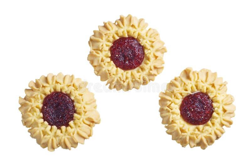 Biscuits avec la confiture d'oranges de cerise image libre de droits