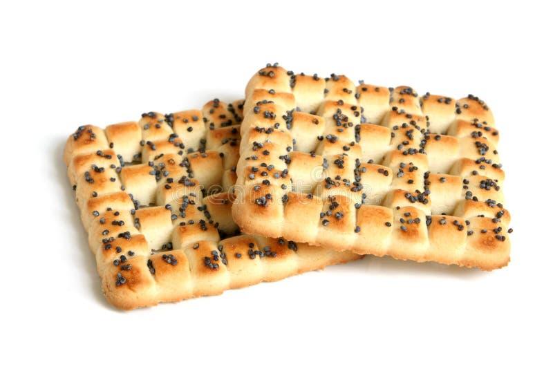 Biscuits avec la graine d'oeillette photo libre de droits