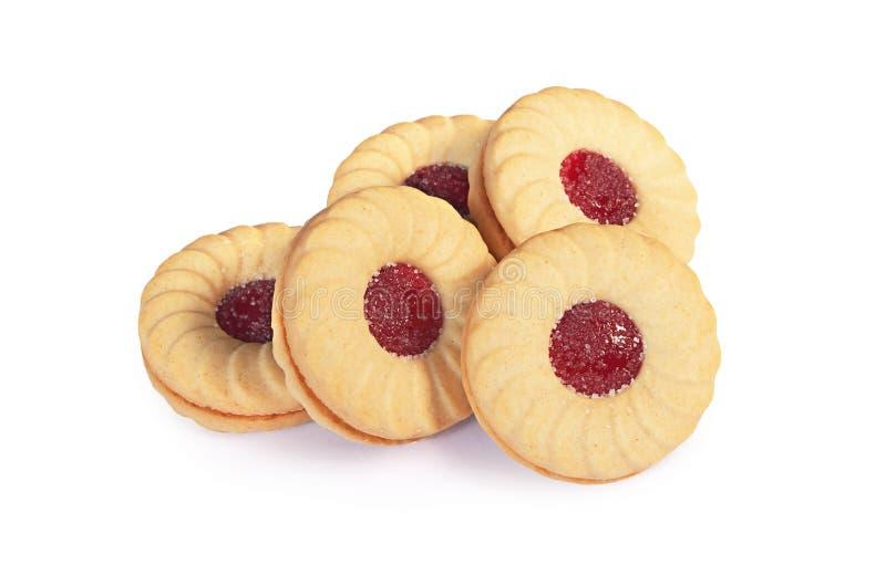 Biscuits avec le bourrage image libre de droits