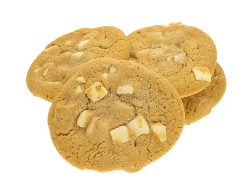 Biscuits blancs de noisetier d'Australie de chocolat photo libre de droits