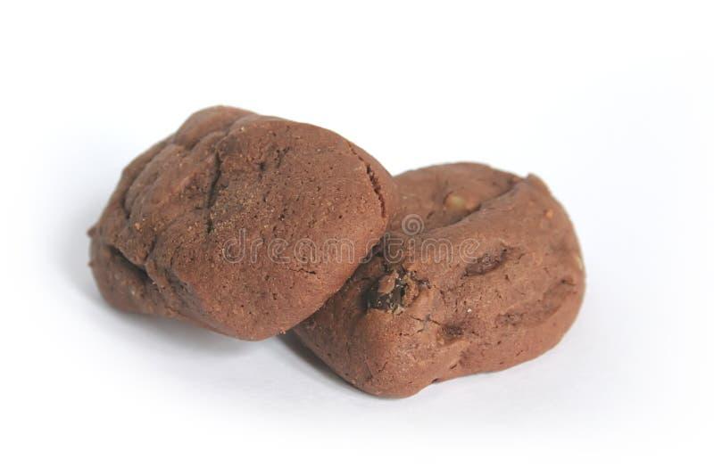Biscuits caoutchouteux de 'brownie' de chocolat photos stock