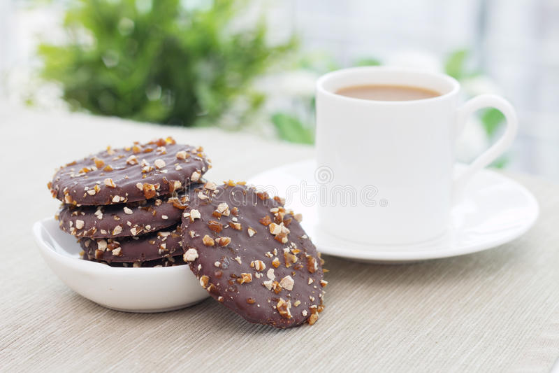 Biscuits and Coffee stock images