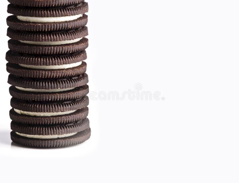 Biscuits crèmes de chocolat photographie stock libre de droits