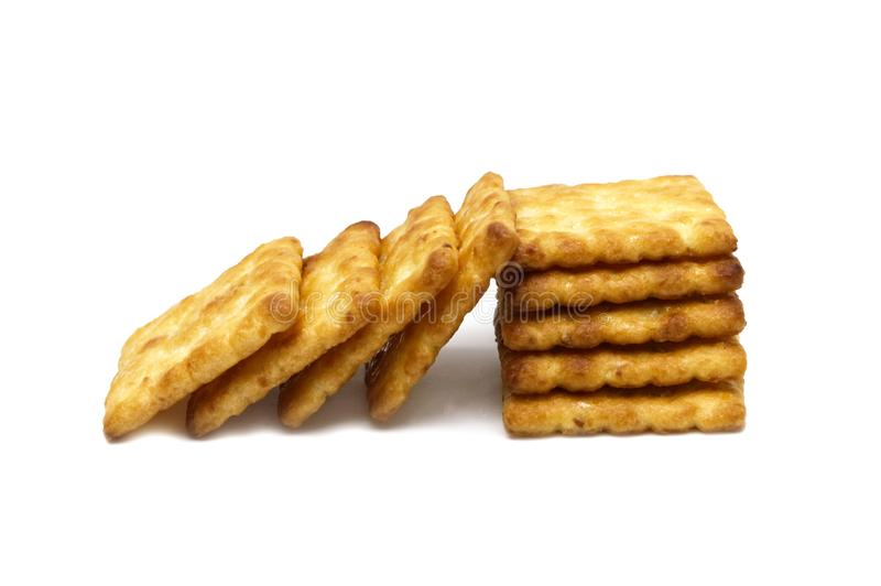 Biscuits cracker of butter coconut and sweet flavored. royalty free stock image