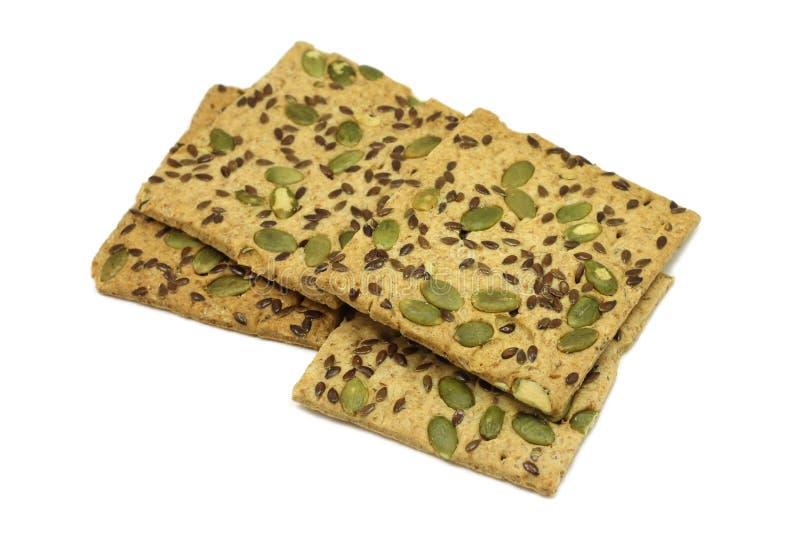 Biscuits croustillants avec les graines de sésame et le potiron photo libre de droits