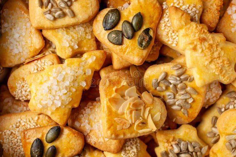 Biscuits cuits au four pour Noël IV image libre de droits