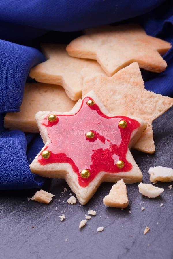 Biscuits d'étoile photo stock