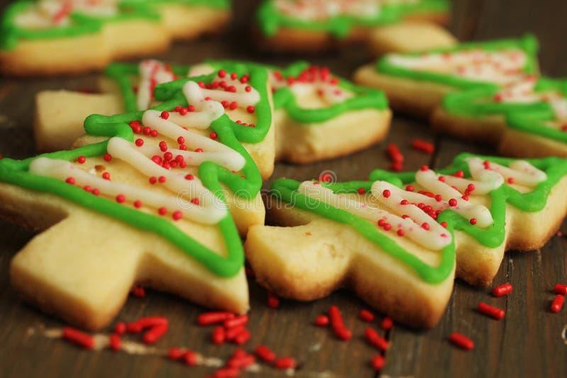 Biscuits d'arbre de Noël photographie stock